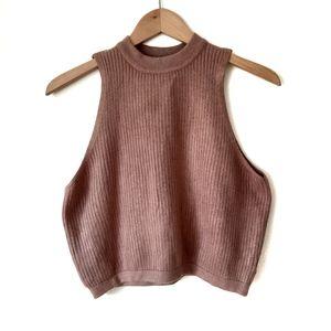 Kendall + Kylie Blush Sleeveless Cropped Sweater